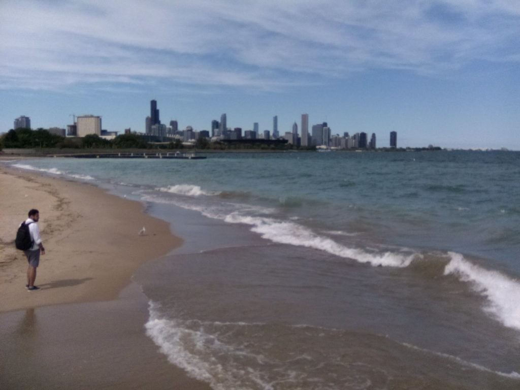 Looking back from 31st Street beach